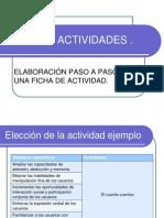 Elaboración de fichas de actividades