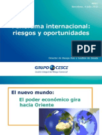 Panorama Internacional - Riesgos y Oportunidades (CESCE)