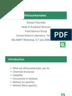 Analysis of Dithiocarbamates Prezentacija