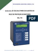 Roteiro de Ajustes Sel-710 Motor de Inducao 4kv