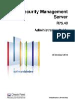 CP R75.40 Security Management AdminGuide