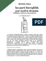 Borbola János a Nilusparti hieroglifak magyar nyelvű olvasata