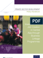 Promoting Investment and Job Creation in Central Asia through Business Linkage Programmes