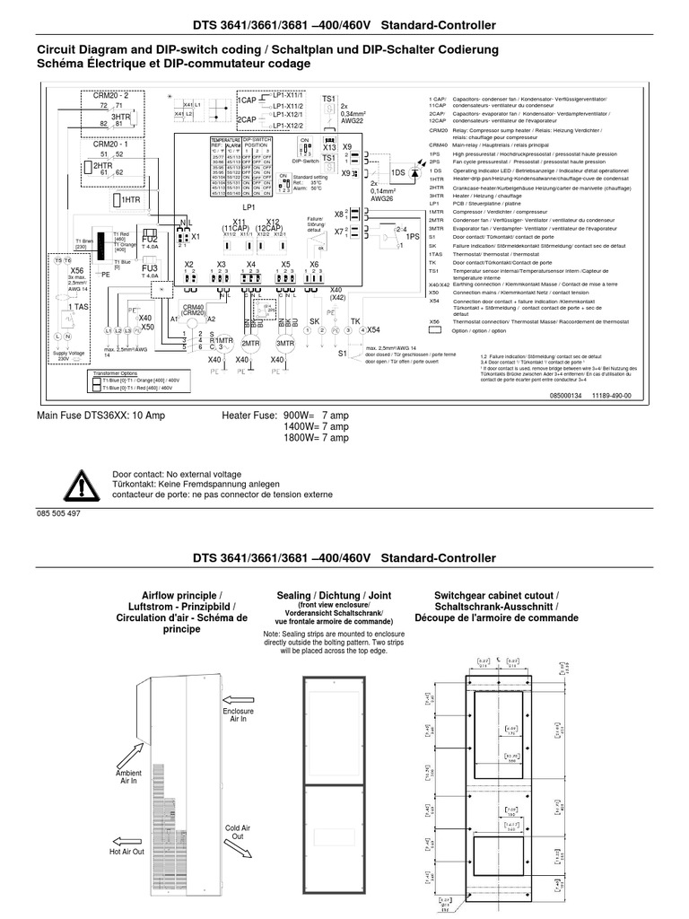 Pfannenberg DTS 3641 Wiring Diagram | Physical Quantities | Electricity