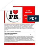 spch 1140 - public relations comm