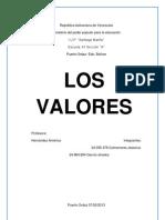 Trabajo de Los Valores Como Proyecto