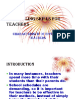 Counselling Skills for Teachers Lecture 1-Characteristics of Effective Teachers