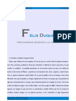 [seminario virtual] Félix Duque - Tres maneras de estar a la contra [seminario virtual]