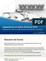 PDL Capacitacion Active Directory 2012 2012 12