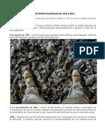 CATÁSTROFES ECOLÓGICAS DE 1945 A 2011