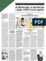 El Sector Salud Afirma Que Ya Son Dos Los Fallecidos Por Gripe AH1N1 en La Capital