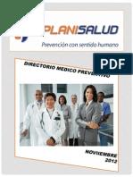 Octubre 2012 -Directorio Medico e Instructivo de Servicios Planisalud