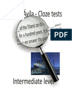 Cloze Tests Intermediate