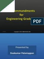 10 Commandments for Engineering Graduates