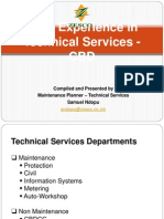 MMS Experience in Technical Services - CBD