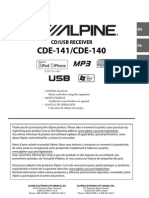 Alpine CDE-141 CDE-140
