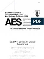0dbFS Levels in Digital Mastering