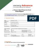 Rapid Response Grant Final Report Form_LivableStreets Alliance_Feb2013