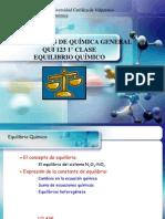 Qui-123 Equilibrio Quimico 1 Clase