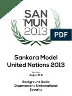 DISEC Background Guide - SanMUN 2013