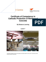 Cathodic Protection of Reinforced Concrete Distance Learning