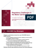 Regulatory Challenges in the Motor Carrier Industry
