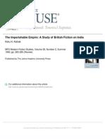 The Imperishable Empire - A Study of British Fiction on India