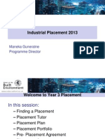Industrial Placement Lecture