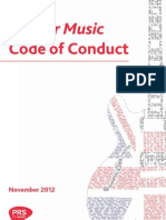 PRS for Music Code of Conduct Nov 2012