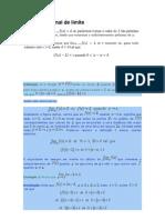 Definição formal de limite