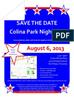 Colina Park Night Out