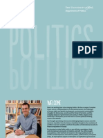 UNIVERSITY OF YORK, POLITICS - Politics Brochure