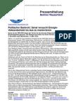 Pressemitteilung vom Berliner Wassertisch vom 16. Juli 2013