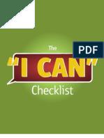 I Can Checklist