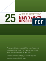 25 Ways to Keep Your New Years Resoultions