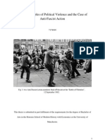 On the Principles of Political Violence and the Case of Anti-Fascist Action