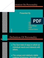 Personality-Ppt by Anand