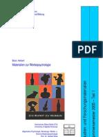 Werbepsychologie - Referatesammlung des Studiengangs Kommunikationspsychologie 2005