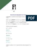 Exercícios de Equações de 2º Grau.docx