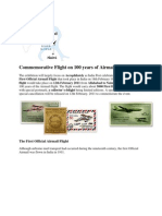 Commemorative Flight on 100 Years of Airmail