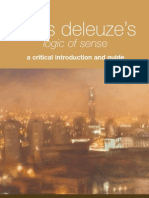 Gilles Deleuze's Logic of Sense - A Critical Introduction and Guide