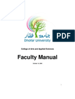 CAAS Faculty Manual 2008 09