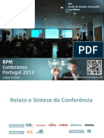 BPM Conference Portugal 2013 - Documento de Relato e Síntese da Conferência