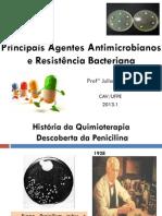 aula principais agentes antimicrobianos e resistência bacteriana