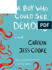 THE BOY WHO COULD SEE DEMONS, by Carolyn Jess-Cooke, Excerpt