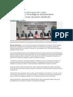NOTICIAS DE CONVENIOS DE COLABORACION DE SECCION 18 Y TEC´S DE MICH