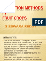 Irrigation Methods in Fruit Crops