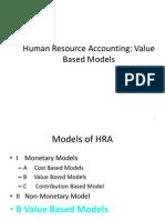 HRA Models - Value Based Models
