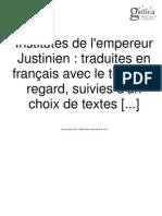 PDF Institutes de l'Empereur Justinian Avec l'Orginal Et Choix de Textes - Blondeau