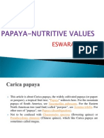 Papaya Nutritive Values Eswar